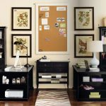 Charming Two Person Work Desk Of Black Ikea For Home Office