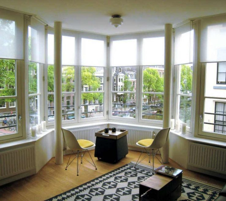 Cool Beautiful Bay Windows Of Astounding Window Design Feat Cozy Leather Chairs