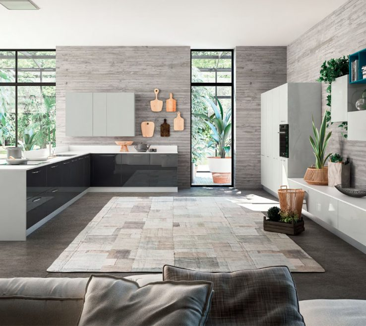 Cool Contemporary Kitchen Furniture Of Modern Italian With Standing Units And Wall
