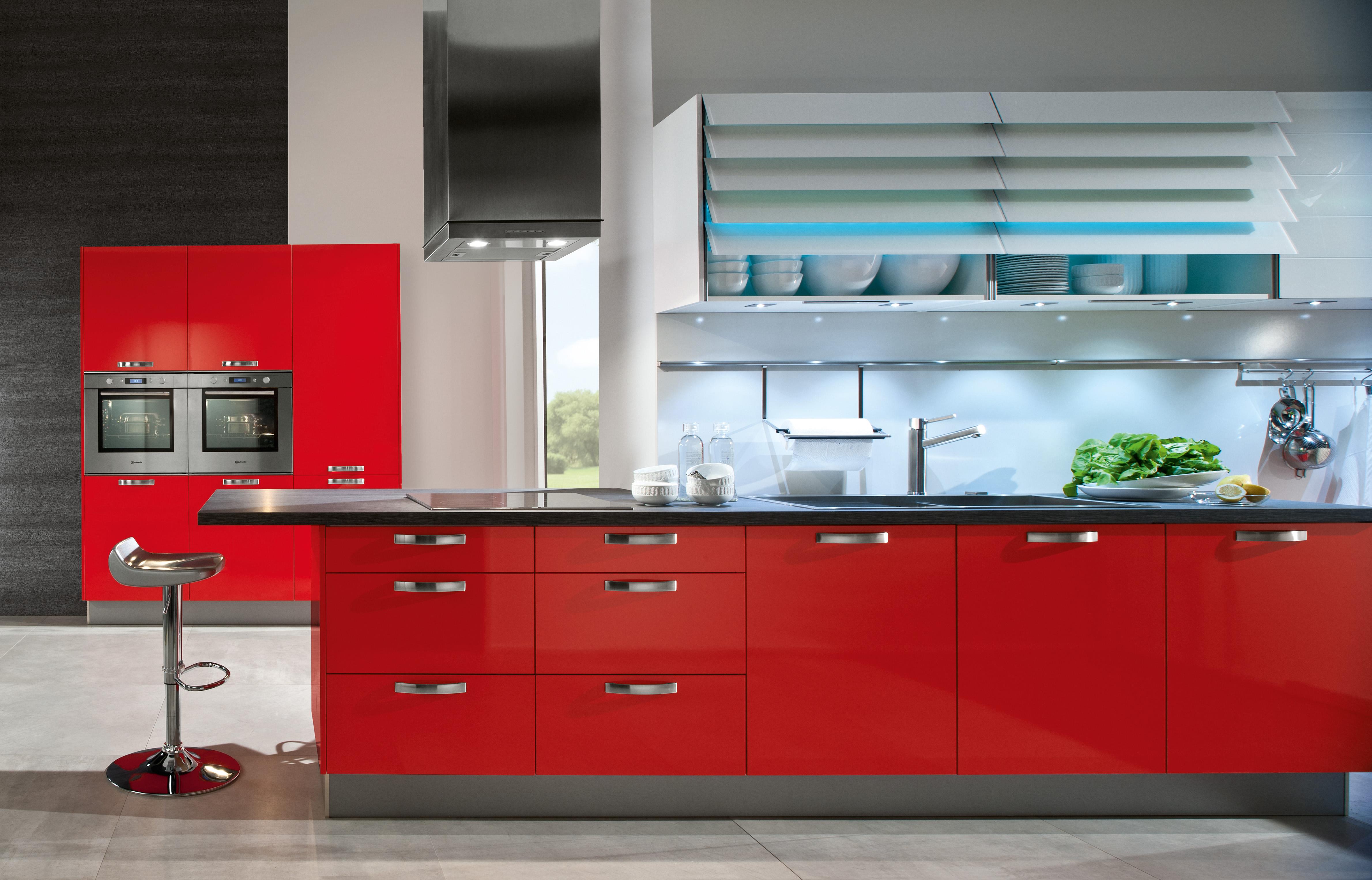 Black And Red Kitchen Design Acnn Decor