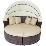 Elegant Round Sofa Set Designs Of Cozy Outdoor Daybed With Canopy For Inspiring