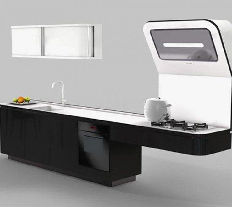 Elegant Space Saver Kitchen Design Of Saving