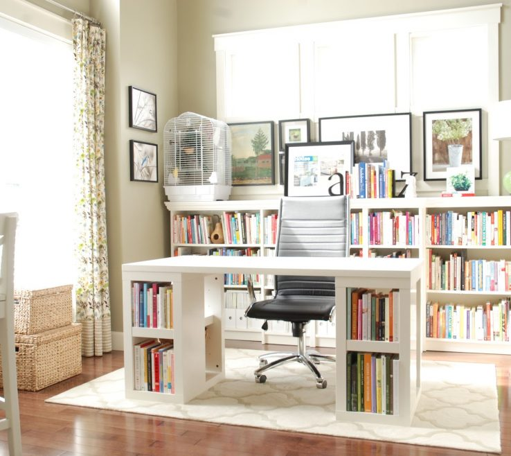 Elegant Two Person Work Desk Of Home Office Furniture For Home Best