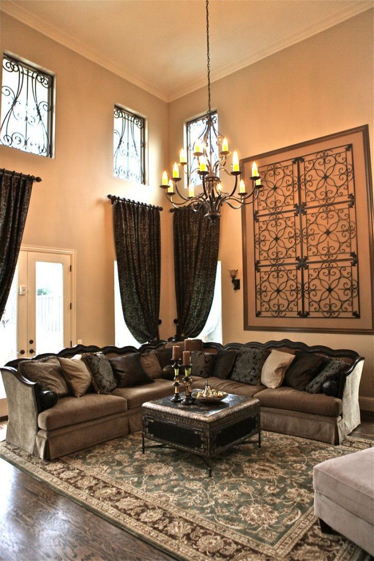 wall decor ideas for vaulted ceilings