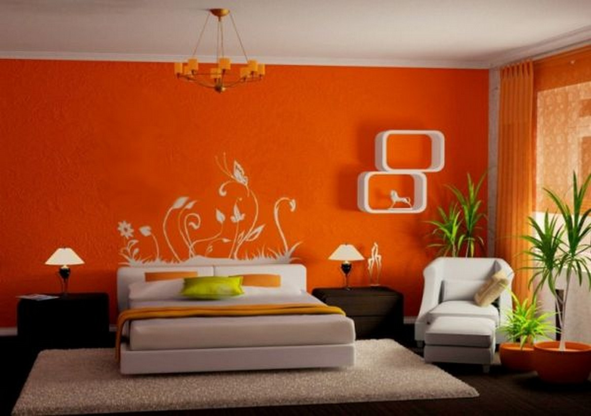 Enchanting Brown And Orange Bedroom Ideas Of Full Size Of