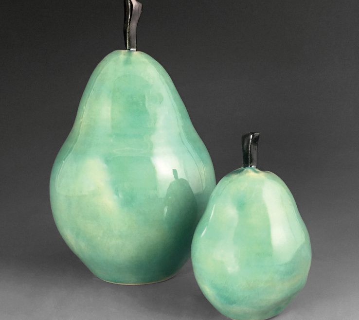 Enchanting Ceramic Pears