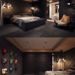 Enchanting Masculine Interior Decorating Of Dark Color Bedroom Ideas Shows A Luxury
