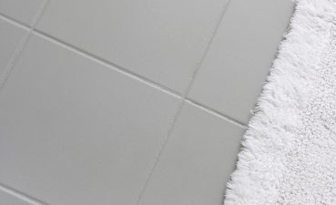 Enchanting Red And White Tiles For Bathroom Of Ugly Ceramic Floor Tile Painted With Gray