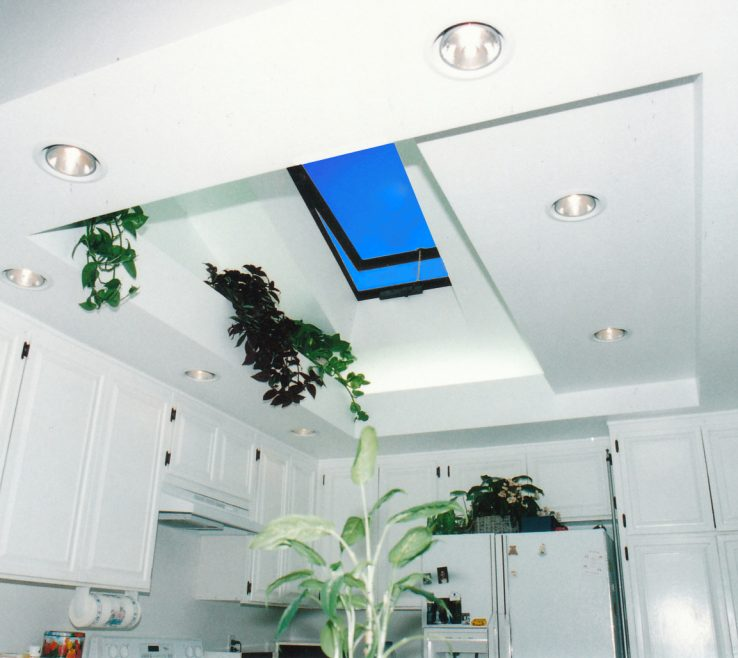 Enchanting Skylight Kitchen Of A Interior Lit By A Vented Glass