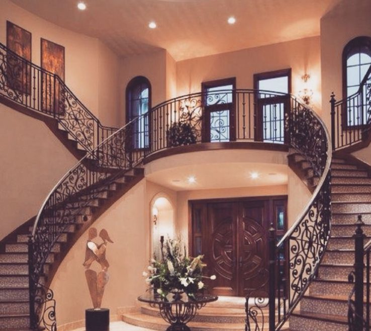 Endearing Beautiful Staircase Design Of Twin Is A Classic That Never Fails
