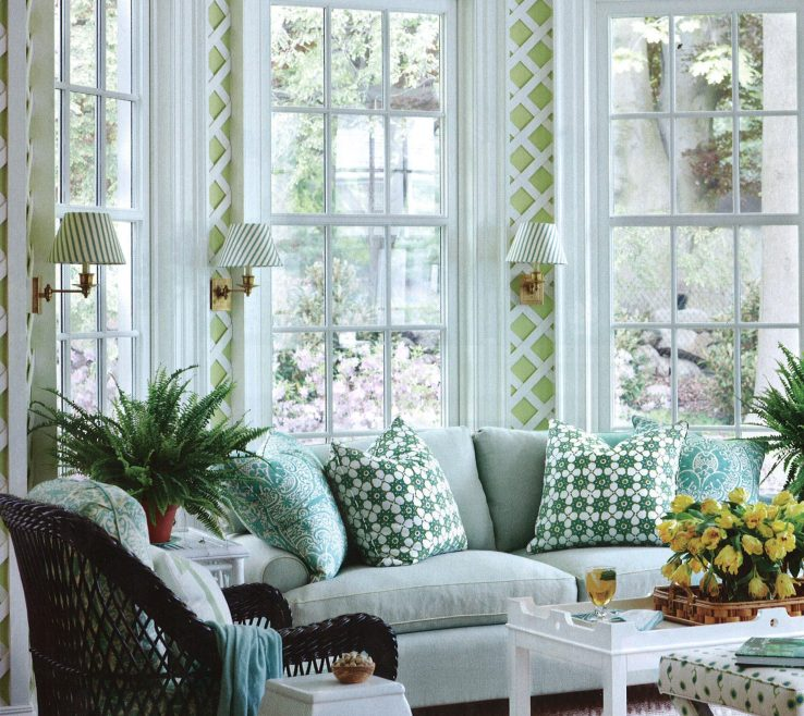 Endearing Beautiful Sunrooms Of Retro Style Sunroom Design With Pattern