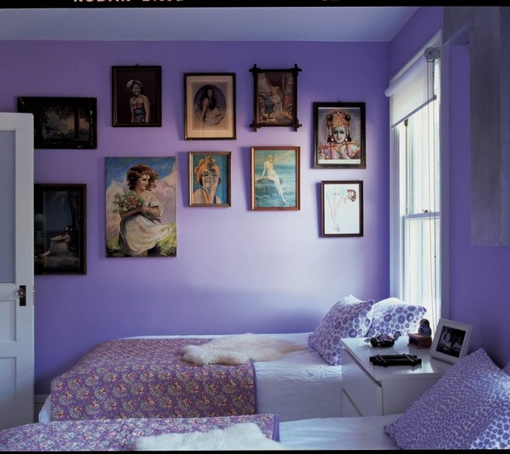 Endearing Bright Purple Wall Paint Of What Color Goes With Walls Room Paints