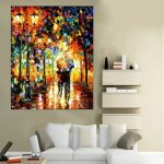 Endearing Modern Wall Painting Of Hand Painted Lover Landscape Oil Picture Paintings