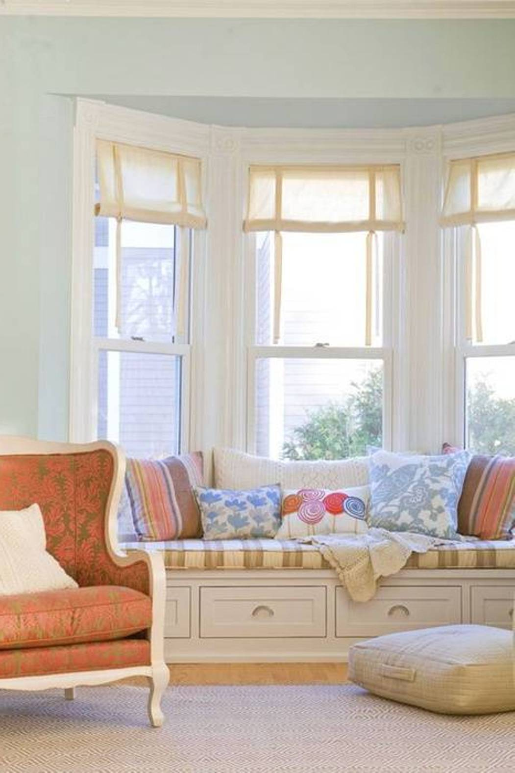 Curtains For Front Bay Windows In Living Room The Best Image Of