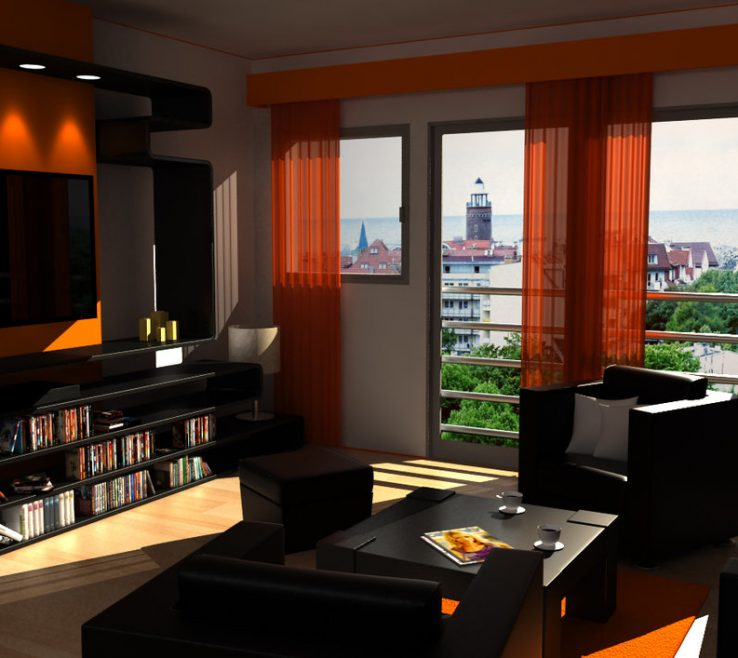 Enthralling Burnt Orange And Brown Living Room Ideas Of Image Of Black Acnn Decor
