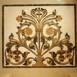 Enthralling Inlay Flooring Designs Of Water Jet Marble Design Medallionmarble Medallion