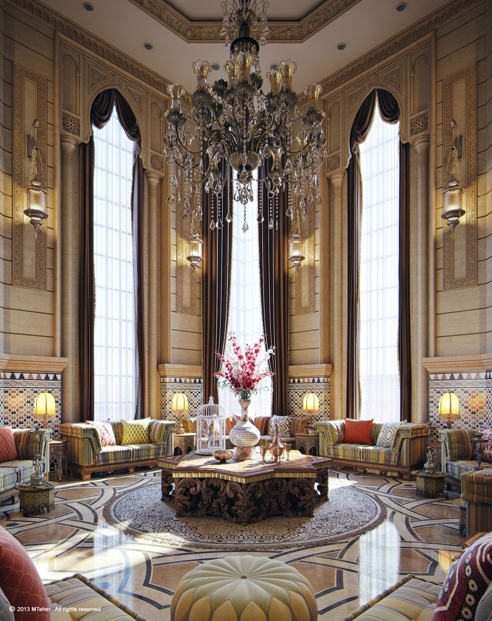 Enthralling Middle Eastern Home Decor Of Moroccan Style Living Room And Task Lighting Acnn Decor