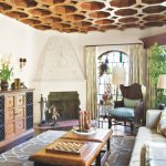 Enthralling Modern Spanish Style Interior Design Of B Coffered Ceiling Revival Home Colonial Style E