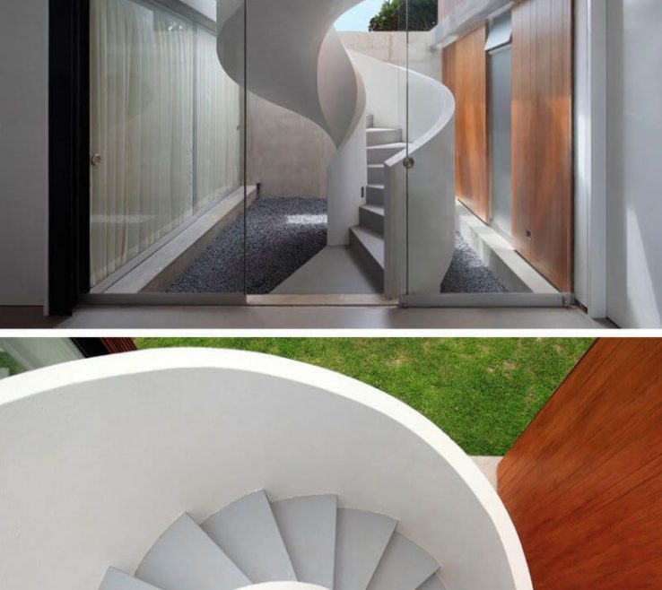 Enthralling Modern Spiral Staircase Of Calculation