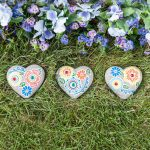 Enthralling Painted Garden Stones Of Mosaic Stones Set Of Hearts