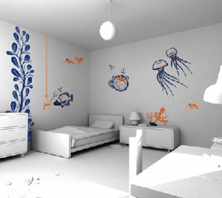 Enthralling Wall Decor Designs Of Interior Designstylish Home Ideas Plan Gallery Image