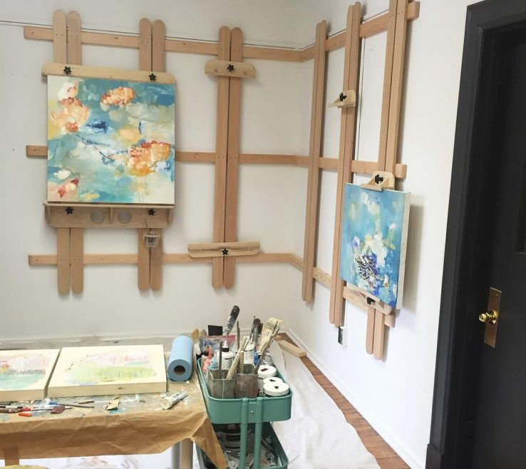 Entrancing Art Studio Designs Of How Amazing Is My New Wall Easel