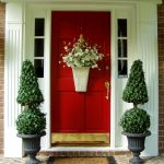Entrancing Flower Arrangements For Front Door Of Outdoorfront Flowers With Red Roses Flowers White