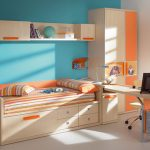 Entrancing Orange And Blue Decorating Ideas Of Engaging Small Space Bedroom Furniture