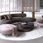 Entrancing Round Sofa Set Designs Of Living Room Seductive Curved Sofas For A