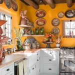 Exquisite Kitchens Painted Orange