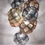 Exquisite Tom Dixon Etch Pendant Of Pendant Copper