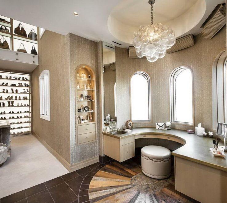 Exquisite Walk In Wardrobe Designs Of Luxury Closet With Shoe Rack