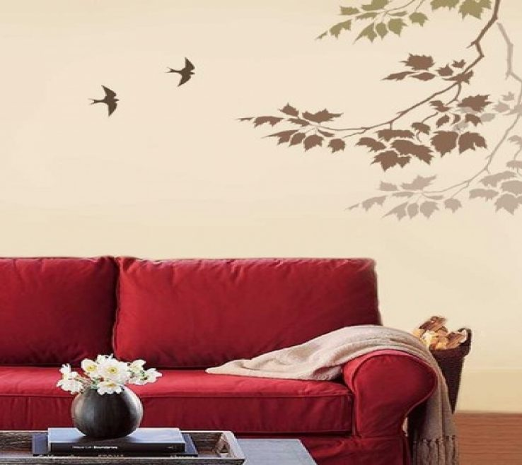 Eye Catching Stencils For Painting Walls Free Of Wall Designs Paint