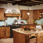 Fascinating Orange And Brown Kitchen Decor Of Kitchen Light Rectangle Traditional Wooden Themes Ideas