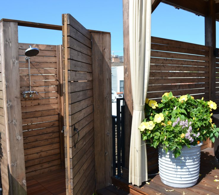 Fascinating Outdoor Shower Door Of Chicago Shower Planter