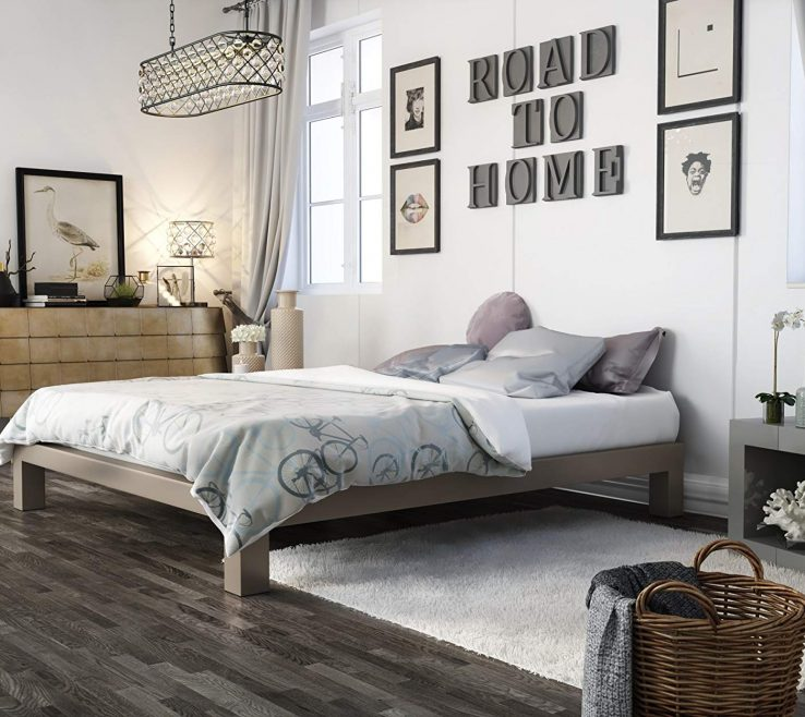 Fascinating Steel Bed Frame Designs Of Conceptreview In Style Furnishings Stella Metal Platform