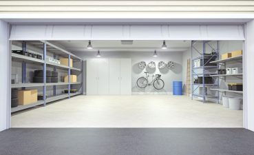 Garage Interior Design Of Photo Of A With Door Open
