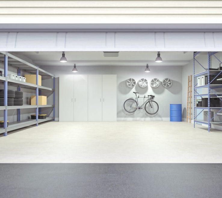 Garage Interior Design Of Photo Of A With Door Open