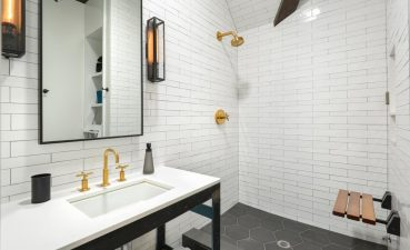 Glass Floor Tile Bathroom Of Subway Pictures Black Stainless Steel Handle Chevron