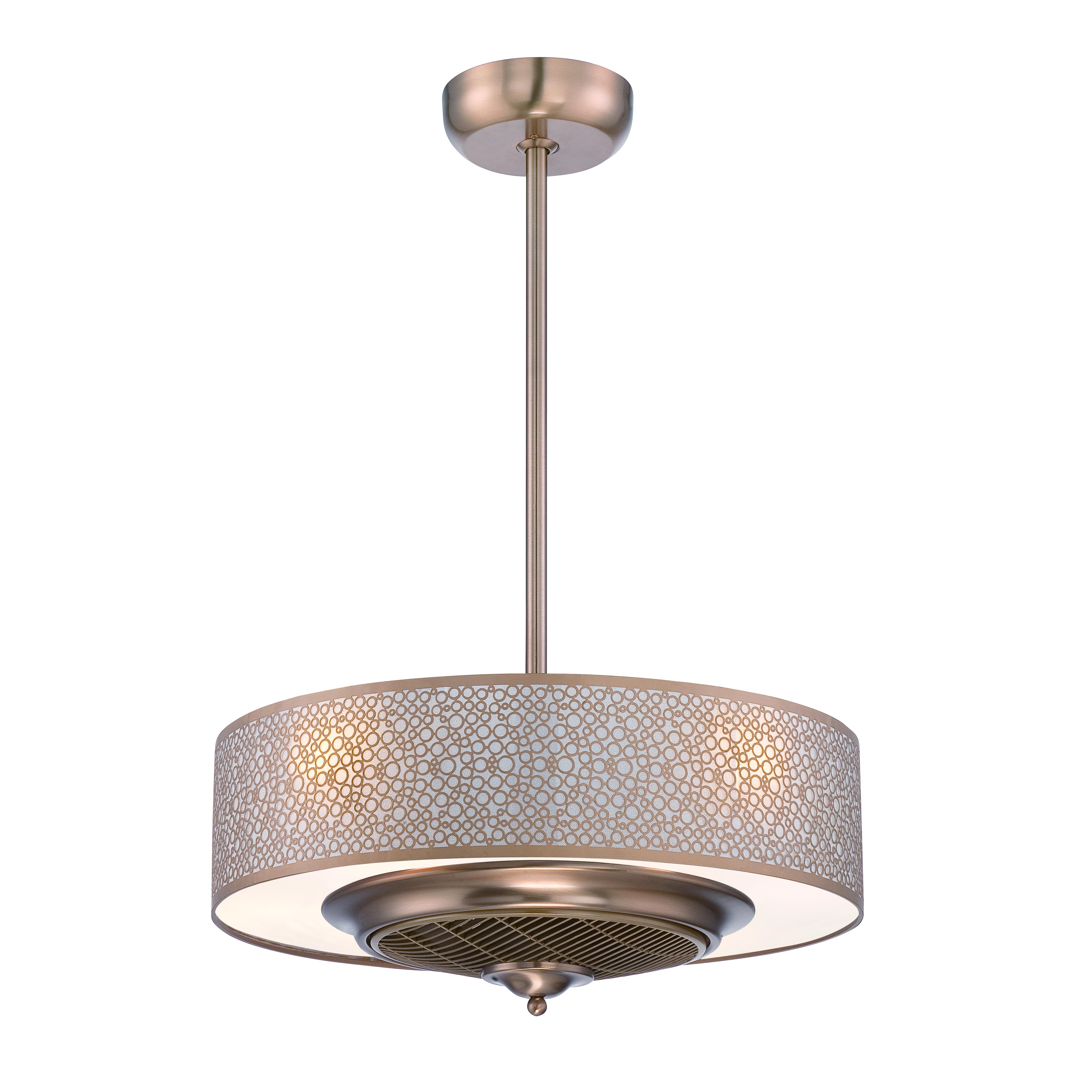 hidden lighting fixtures of ceiling fan for master bedroom