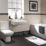 Impressive Black Toilet Bathroom Design Of Back To Good And White Tile