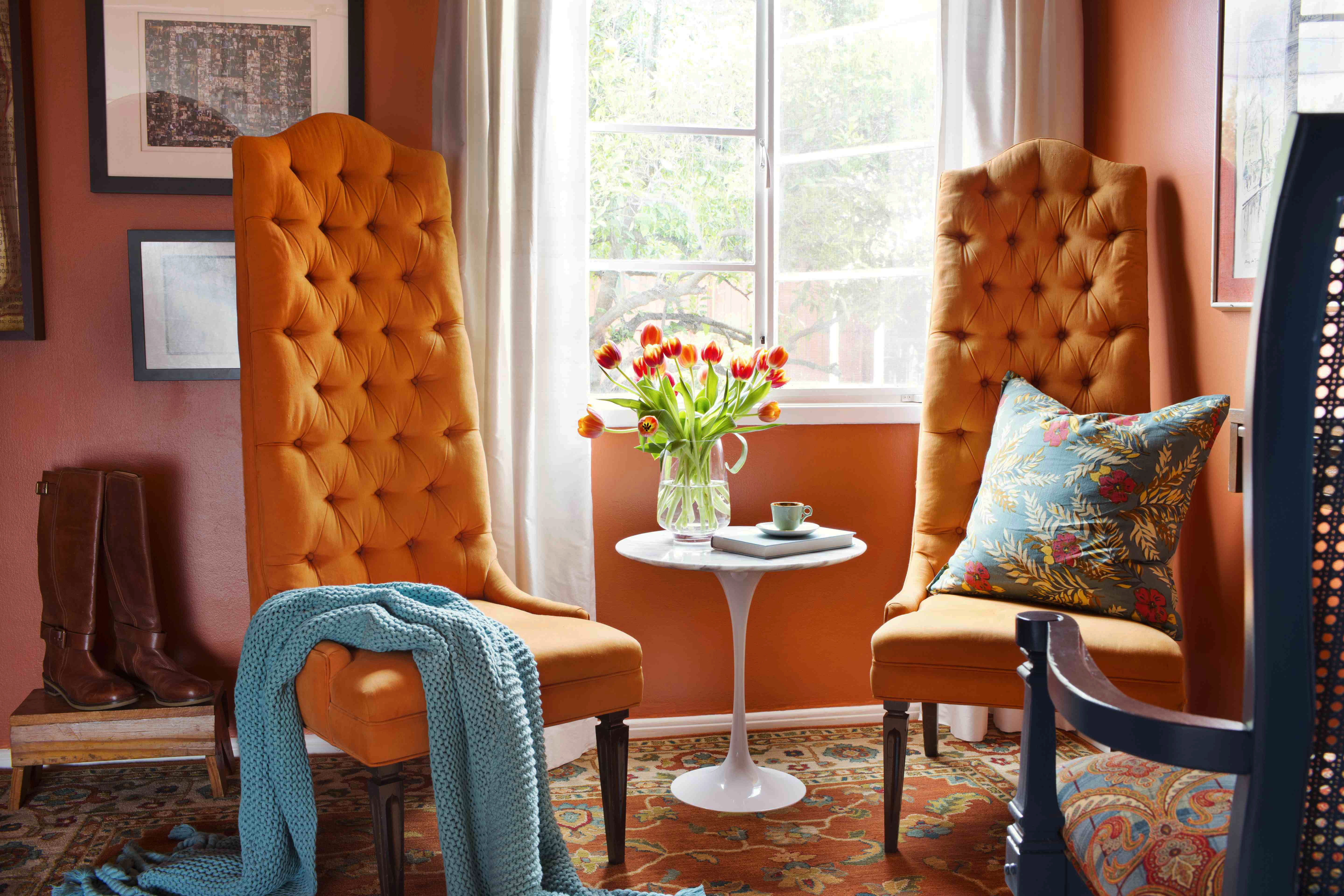 Brown And Orange Living Room Acnn Decor