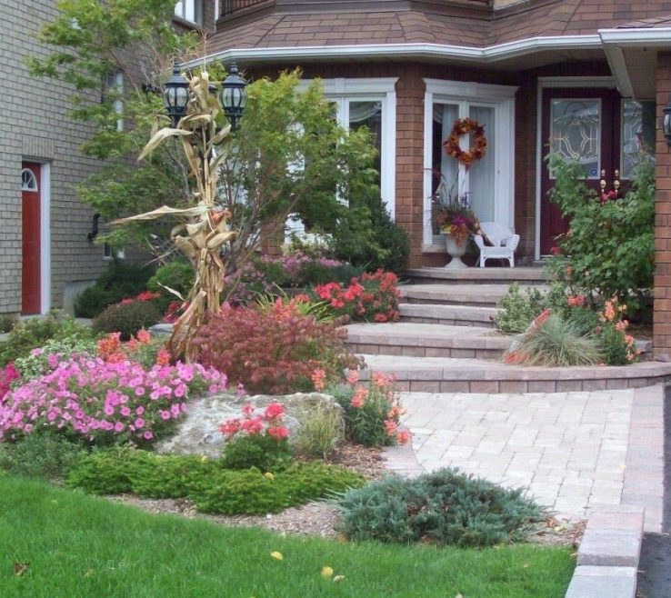 Impressive Front Entrance Design Of More Simple Garden
