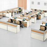 Impressive Modern Office Design Layout Of Wooden Chinese Manufacturer H Shape Workstation System