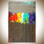 Impressive Modern Wall Painting Of Fireworks By QiqigalleryOriginal Abstract Paintings