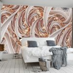 Impressive Mural Interior Design Of d Geometry Wall Abstract Lines Wallpaper d
