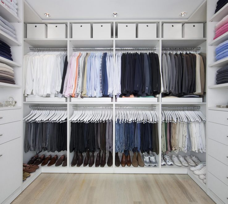 Impressive Small Walk In Closet Of Stylist Walk