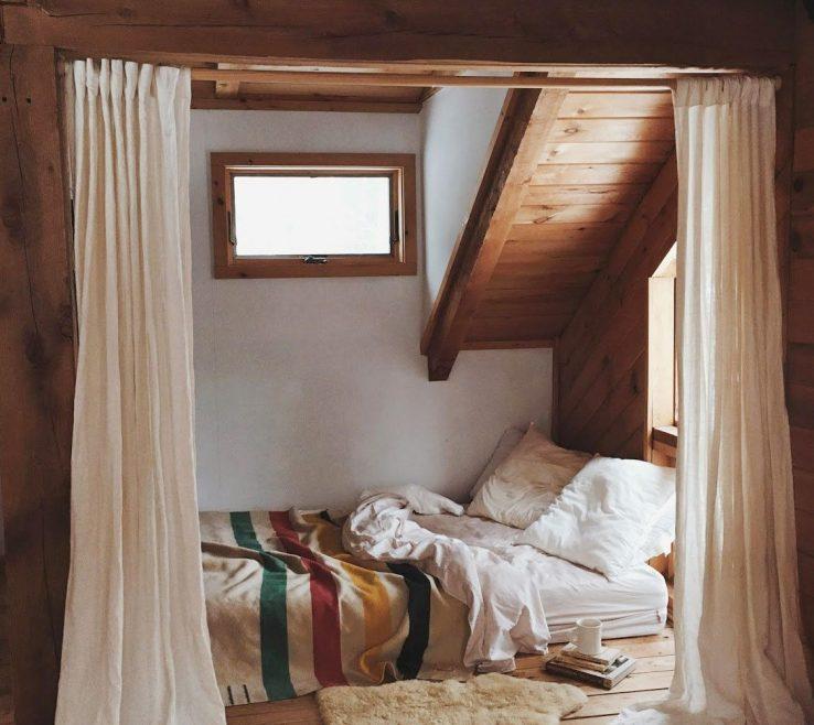 Ing Attic Bedroom Of Cabin
