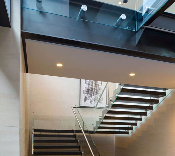 Ing Balcony Glass Design Of Staircase And In Iron Cement And Glass