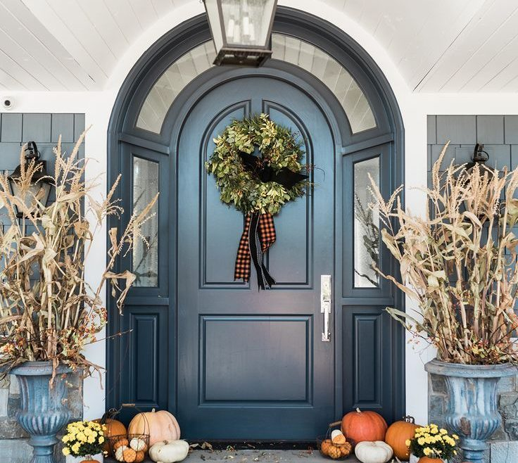 Ing Beautiful Front Door Of Entrance Way Doors Fall Decorations Dream Home